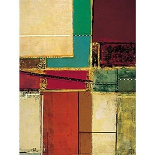 Buyartforless Urban Abstract II by Ellio DeChino 24x36 Art Print Poster Abstract Painting Colors Lines Letters von Buyartforless