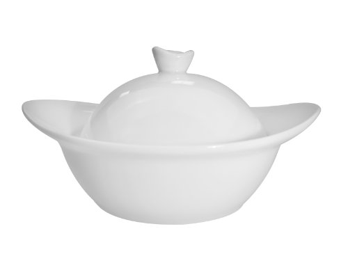 CAC China Clinton Super White Porzellanschale mit Deckel 5-5/8 by 4-3/4 by 3-Inch, 4.5-Ounce Super white; bright white von CAC China