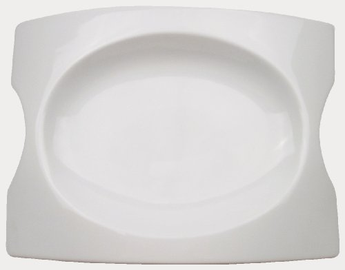 CAC China FSB-14 Fashion Bridge 14-Inch by 10-Inch by 1-3/4-Inch Super White Porcelain Platter, Box of 4 von CAC China