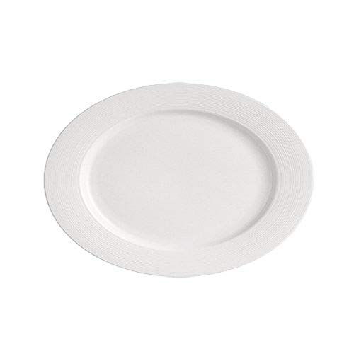 "CAC China HMY-12 Harmony Porcelain Oval Platter, 10-3/4"" by 8"" by 1"", Super White (Box of 24) von CAC China"