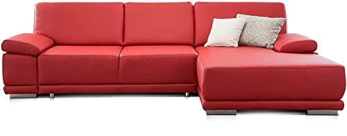 rot ecksofas aus leder und weitere ecksofas g nstig online kaufen bei m bel garten. Black Bedroom Furniture Sets. Home Design Ideas