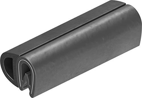 1 m Dichtungsprofil Dichtprofil Kantenschutz PVC  schwarz KB 1-4 mm 1C10-08