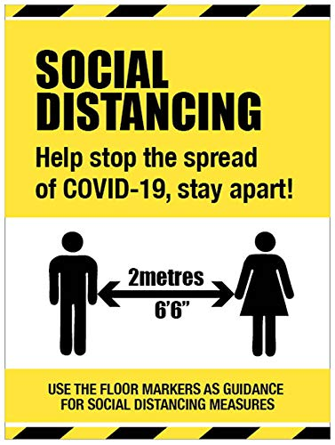 Social Distancing Schild - If you can't stay at home stay apart von Caledonia Signs