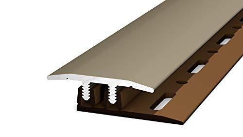 Schrauben 90cm edelstahloptik matt gelocht 134 60mm /Übergangsprofil Nr inkl gew/ölbt