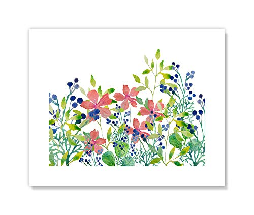 "Casa Fine Arts Field Multicolor Colorful Floral Botanical Wildflowers Wall Art Archival Print, 10"" x 8"", von Casa Fine Arts"