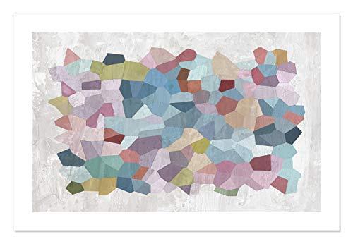 "Casa Fine Arts Geometry in Color Mid Century Modern Geometric Abstract Wall Art Archival Print, 36"" x 24"", Multicolor von Casa Fine Arts"