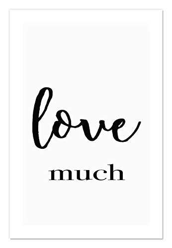 "Casa Fine Arts Love Much Black and White Inspirational Quote Wall Art Archival Print, 24"" x 36"", von Casa Fine Arts"
