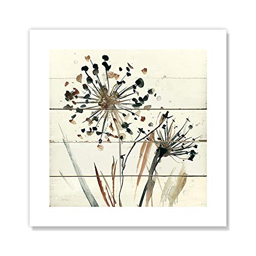 "Casa Fine Arts Nature's Lace II Wood Pattern Modern Floral Wall Art Archival Print, 10"" x 10"", Neutral von Casa Fine Arts"
