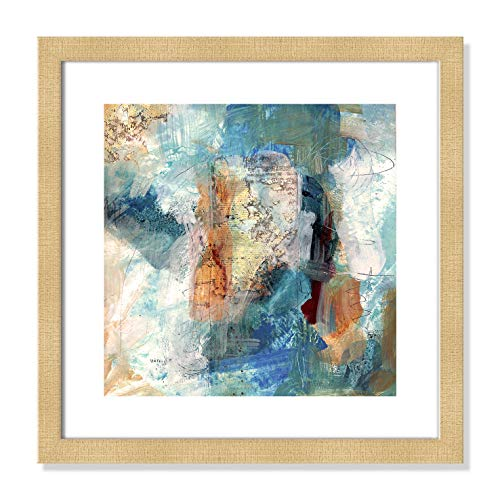"Casa Fine Arts Painterly Elements II Gallery Modern Abstract Wall Art Archival Print, 16"" x 16"", Champagne Frame von Casa Fine Arts"