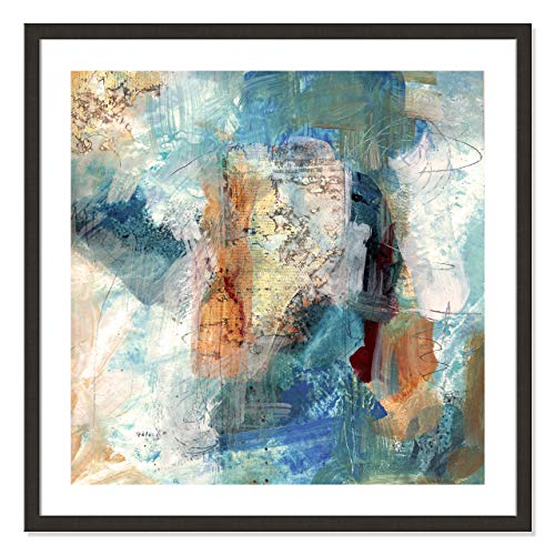 "Casa Fine Arts Painterly Elements II Gallery Modern Abstract Wall Art Archival Print, 31"" x 31"", Dark Espresso Frame von Casa Fine Arts"
