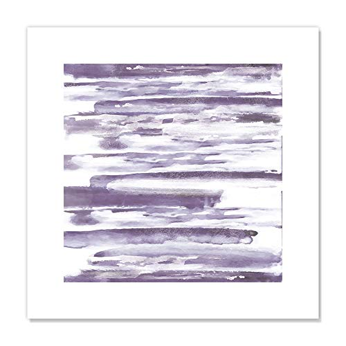 "Casa Fine Arts Purple Haze I Minimalist Decorative Wall Art Archival Print, 16"" x 16"" von Casa Fine Arts"
