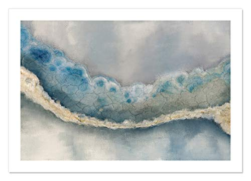 "Casa Fine Arts Streams of Blue Modern Agate Geode Wall Art Archival Print, 28"" x 40"", von Casa Fine Arts"
