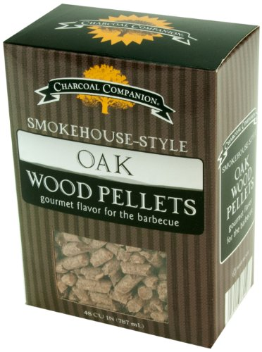Charcoal Companion Eiche Smokehouse-Style Wood Pellets, Natural, 10x6x14 cm von Charcoal Companion