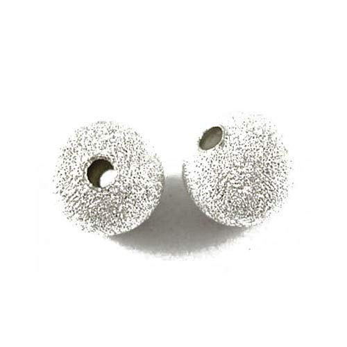 Paket 100+ Silber Messing Auflage 6mm Stardust Perlen - (HA01919) - Charming Beads von Charming Beads