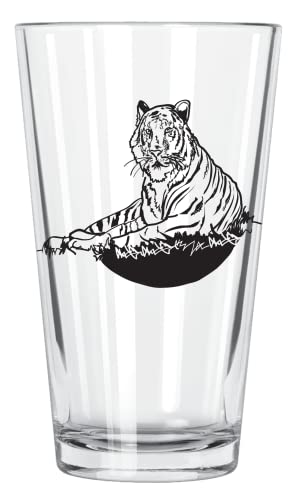 Corkology Tiger Pint-Glas, transparent von Corkology