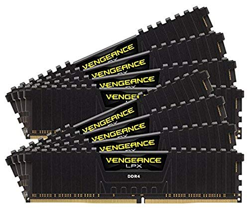 Corsair Vengeance LPX 128GB (8x16GB) DDR4 2933MHz C16 XMP 2.0 High Performance Desktop Arbeitsspeicher Kit (für AMD Threadripper) schwarz von Corsair
