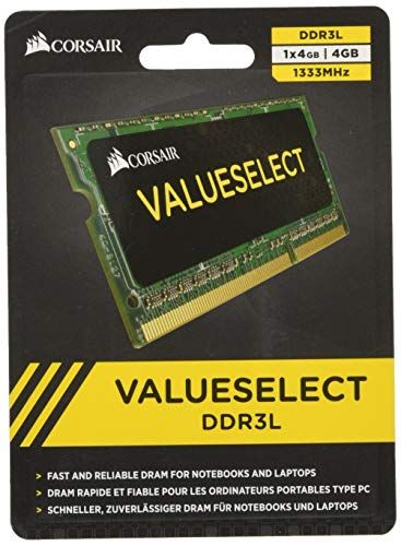 Corsair CMSO4GX3M1C1333C9 Value Select 4GB (1x4GB) DDR3 1333Mhz CL9 von Corsair