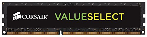 Corsair CMV4GX3M1C1600C11 Value Select 4GB (1x4GB) DDR3 1600Mhz CL11 Standard Desktop Memory Schwarz von Corsair