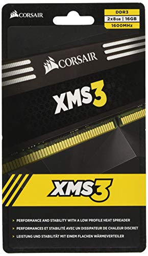 Corsair CMX16GX3M2A1600C11 XMS3 16GB (2x8GB) DDR3 1600 Mhz CL11 Performance Desktop Memory von Corsair