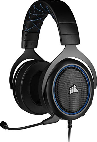 Corsair HS50 PRO Stereo Gaming Headset (Adjustable Memory Foam Ear Cups, Lightweight, Noise-Cancelling Detachable Microphone with PC, PS4, Xbox One, Switch and Mobile Compatibility) - Black von Corsair