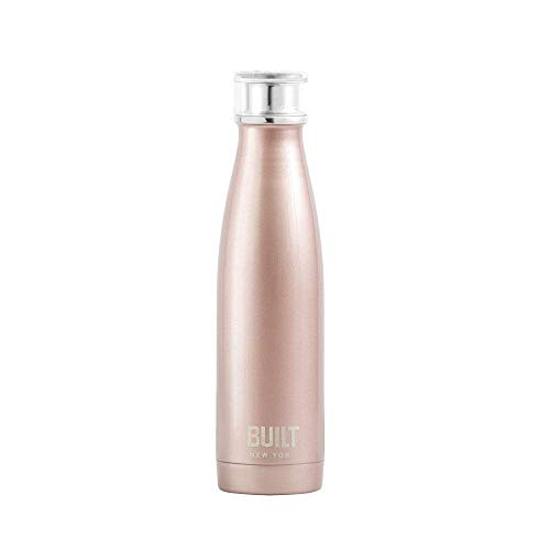 Creative Tops 5193230 BUILT Perfect Seal Vacuum Insulated Bottle, edelstahl, 17 Fluid_Ounces, Rose Gold, 480 ml (17 fl oz) von CREATIVE TOPS