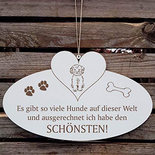 SCHÖNSTER HUND » Spruch Hunde Dekoration Deko Wand Schiefertafel « MALINOIS