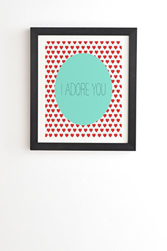 "DENY Designs Allyson Johnson I Adore You Framed Wall Art, 8"" x 9 .5"" von DENY Designs"