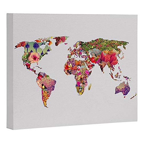 DENY Designs Bianca Green Its Your World Canvas Wall Art, 24 x 30 von DENY Designs