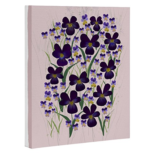 DENY Designs Joy LaForme Art Leinwand, Pansies in Purple and Yellow, 20 x 25 cm von DENY Designs