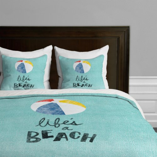 DENY Designs Nick Nelson Lifes A Beach Bettdeckenbezug Twin von DENY Designs