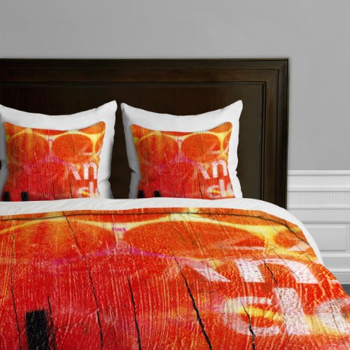 DENY Designs Sophia Buddenhagen Bettbezug König King Orange von DENY Designs