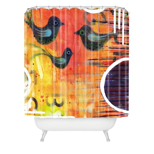 "DENY Designs Sophia Buddenhagen Three Birds Shower Curtain, 69"" x 72"" von DENY Designs"
