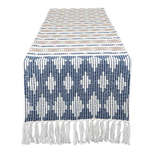 DII CAMZ11284 Braided Cotton Table Runner, Perfect for Spring, Fall Holidays, Parties and Everyday Use, 15x72, French Blue von DII