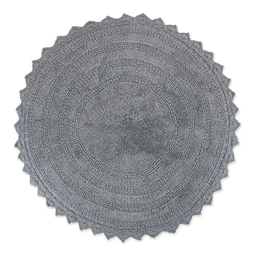"DII Crochet Collection Bath Mat, Round, 27.5"" Diameter, Gray von DII"