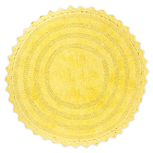 "DII Crochet Collection Bath Mat, Round, 27.5"" Diameter, Yellow von DII"