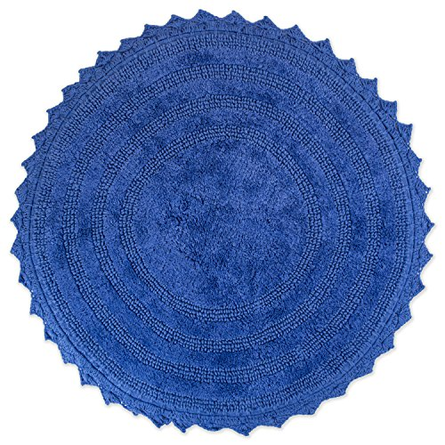 "DII Crochet Collection Bath Mat, Round, 27.5"" Diameter, Blueberry von DII"