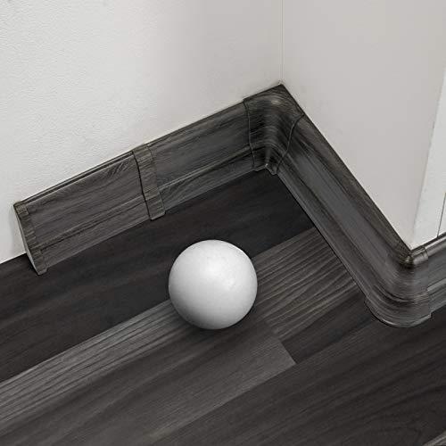 2 Meter Sockelleiste 62mm PVC Eiche alt Laminatleisten Fussleisten aus Kunststoff PVC Laminat Dekore Fu/ßleisten DQ-PP