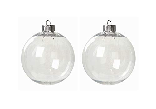 Case of 32 Clear Plastic Round Ball Ornaments - The Look of Glass Ornaments! by Unknown von Darice