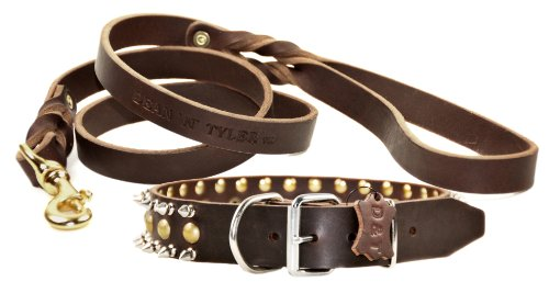 Dean & Tyler The Business Endhalsband mit 18 Fuß Love to Walk Leine, 45,7 cm, Braun von Dean & Tyler