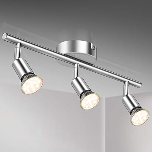 LED Deckenlampe Evelina 3-flammig Strahler Lampenwelt Deckenleuchte Küche Flur