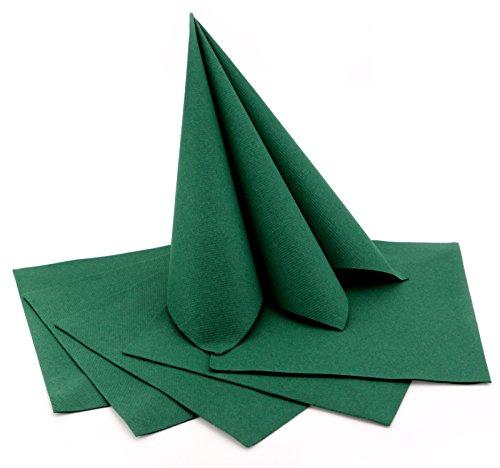 100 Stück Servietten DUNKELGRÜN Stoffähnlich 40 X 40 Cm Premium Einweg  Mundservietten Zum Falten Weihnachten Geburtstag Tischdeko Grün Dekoration  Textil ...