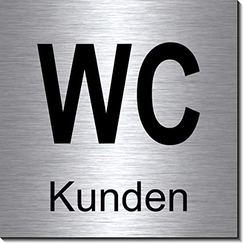 Vorsicht Stufe Schild 100 x 100 x 3 mm-Aluminium Edelstahloptik silber mattgeb/ürstet Hinweisschild-1910-69