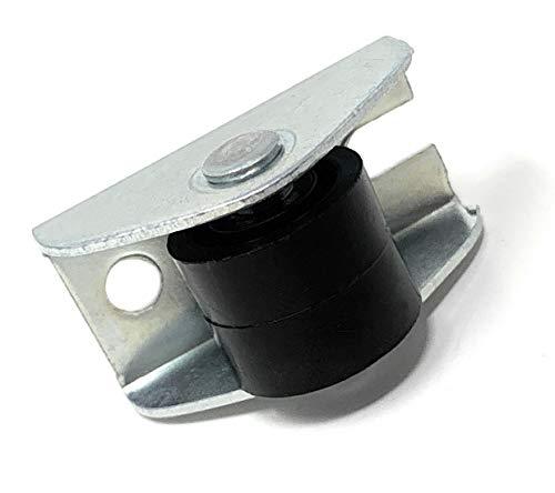 Design61 Universal M/öbelrollen mit U-Aufnahme 19mm Gummirollen Laufrollen Bodenschutz Rollen mit Feststeller Plattenschuhe mit Gewindestift 4 St/ück