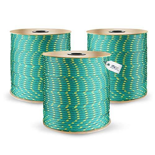 10m POLYPROPYLENSEIL 6mm SCHWARZ Polypropylen Seil Tauwerk PP Flechtleine Textilseil Reepschnur Leine Schnur Festmacher Rope Kunststoffseil Polyseil geflochten