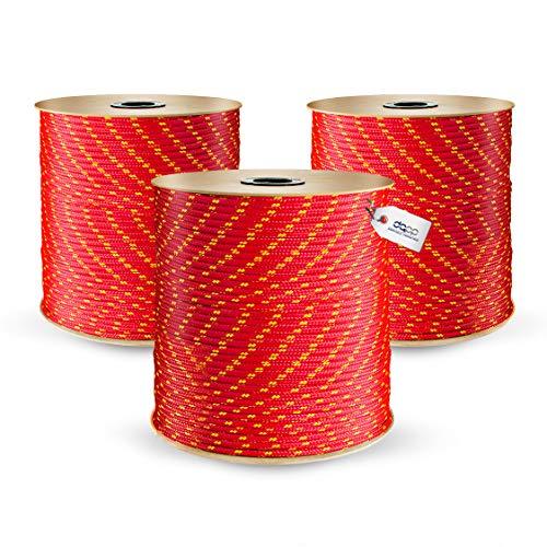 200m POLYPROPYLENSEIL 5mm BLAU Polypropylen Seil Tauwerk PP Flechtleine Textilseil Reepschnur Leine Schnur Festmacher Rope Kunststoffseil Polyseil geflochten