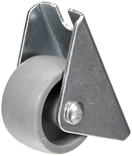 Helmer M/öbel-Lenkrolle D/örner 790140C grau 45 x 17 mm, Kunststoff-Rad