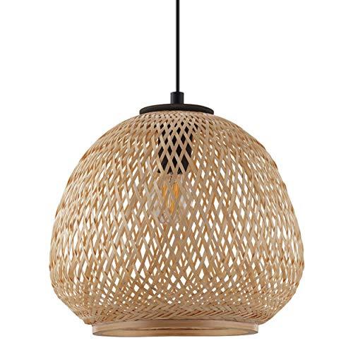 Torbole Pendel Hänge Ess Tisch Leuchte Lampe 36cm höhenverstelbar E27 Glas Holz