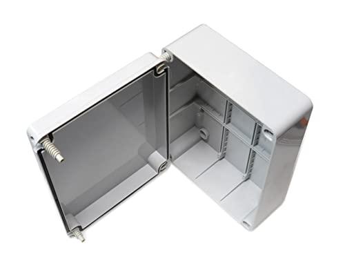 Abzweigdose, Deckel Mit Scharnier (Tür 240 X 190 X 90 Mm, Wasserdicht, Aus  PVC Gehäuse, Schutzart IP56 Für Außenbereich, Kunststoff, Anpassbar, ...