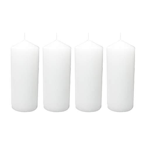 Ø x H 60 x 150 mm einzeln in Folie Stumpenkerze weiß, ca