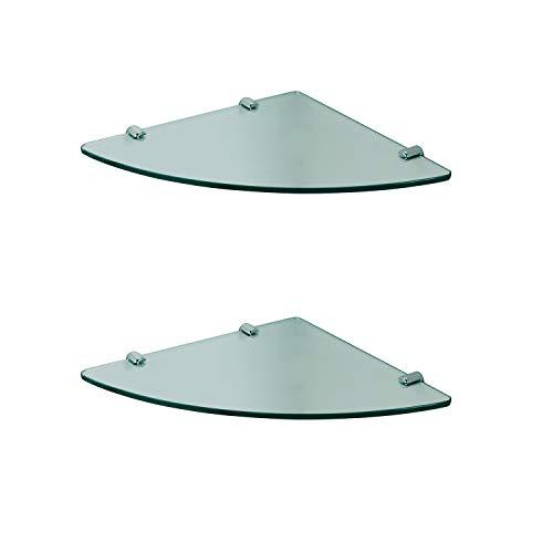 Wandregal Glasregal 8mm klar Glas Eckregal Glasboden für Duschwände//Duschkabine